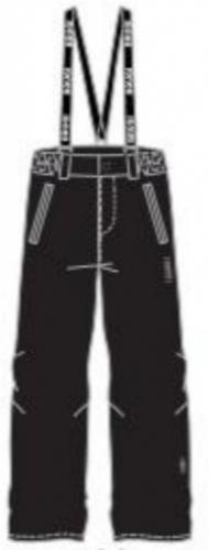 Brugi Spodnie  narciarskie juniorskie 3AGP-500 Nero r. 32