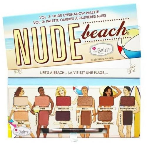 The Balm Nude Beach Eyeshadow Palette paletka cieni do powiek 9.6g