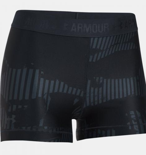 Under Armour Spodenki damskie HeatGear Armour Printed Shorty czarne r. XS (1302777-008)
