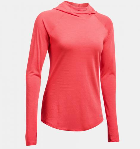 Under Armour Bluza damska Threadborne Run Mesh Hoodie czerwona r.XS (1299985-963)
