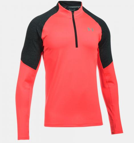 Under Armour Bluza męska Threadborne™ Run  1/4 Zip czerwono-grafitowa r. L (1298836-963)