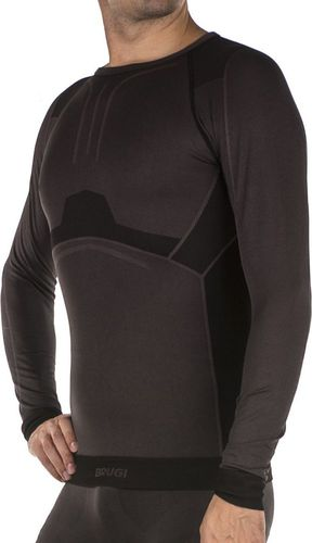 Brugi Koszulka męska Seamless 4RAR szara r. L/XL (4RARL8C)