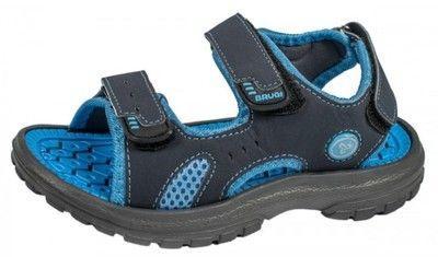 Brugi Sandały Dziecięce 1ZCU-384 Celeste Szaro - Niebieskie r. 35