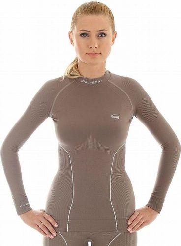 Brubeck Koszulka termoaktywna damska Thermo LS10670 Brubeck czekoladowy roz. XL