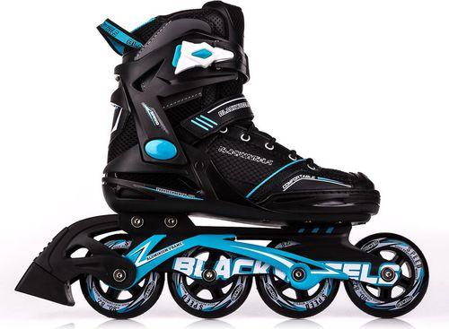 Blackwheels Rolki Slalom czarno-niebieskie r. 38
