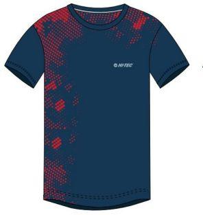 Hi-tec Koszulka dziecięca Dasmi JR Poseidon/High Risk Red/Sterling Blue r. 140