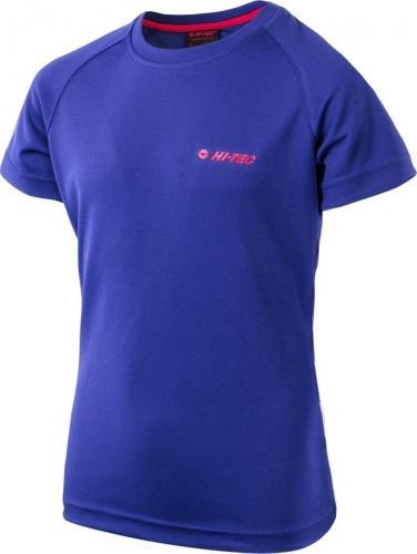 Hi-tec Koszulka dziecięca GOGGI JRG DEEP Blue/ Virtual Pink r. 140