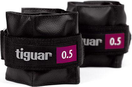 Tiguar Obciążniki na rzepy czarne 2x0,5kg (TI-OB00005)