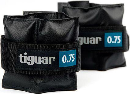 Tiguar Obciążniki na rzepy czarne 2x0,75kg (TI-OB00075)