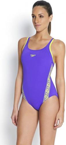 Speedo Strój kąpielowy Monogram Muscleback Endurance+ Violet/Wild Lime r. 36 (8-08733A353)