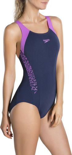 Speedo strój kąpielowy Boom Splice Muscleback granatowo-różowy r. 34 (8-10822A023)