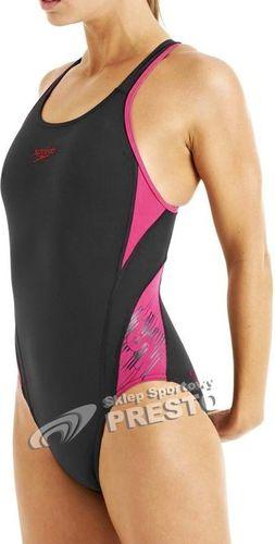 Speedo Strój kąpielowy FocusFlux Medalist Endurance+ AF Black r. 34 (8-090278541)