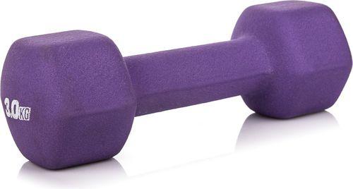 Platinum Fitness Hantla neoprenowa 3kg Platinum Fitness fioletowy roz. uniw