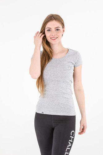 4f Koszulka damska H4L17-TSD011 4F jasny szary melanż roz. L (H4L17-TSD011)