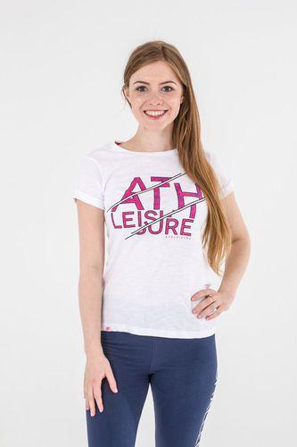 4f Koszulka damska biały r. S (H4L17-TSD015)