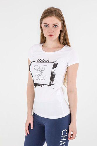 4f Koszulka damska H4L17-TSD003 biała r. M