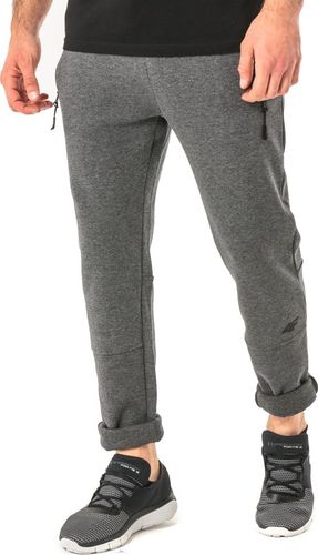 4f Spodnie męskie H4Z17-SPMD003 stalowe r. L