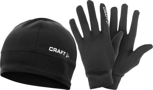 Craft Zestaw czapka i rękawiczki Running Winter Gift Pack czarny r. S