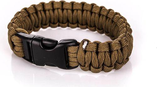 BCB Bransoleta survivalowa Paracord Bracelet BCB Coyote roz. uniw (CM073C)