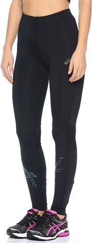 Asics Spodnie damskie Stripe Tight Asics Performance Black/Kingfisher r. S (1213338148)