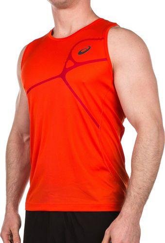 Asics Koszulka męska Protection Road Singlet Top pomarańczowa r. XL (1298610540)