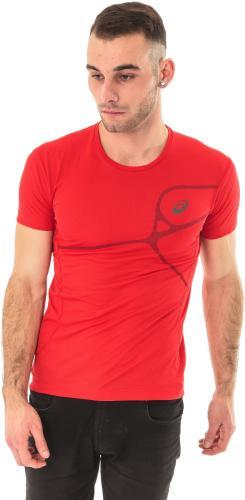 Asics Koszulka męska Protection Road Top czerwona r. XXL (1298636015)