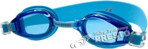 Aqua-Speed Okulary pływackie dziecięce Accent Aqua-Speed  niebieski roz. uniw