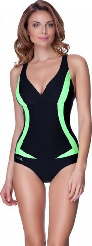 Aqua-Speed Kostium kąpielowy Greta Aqua-Speed czarno-zielony roz. 36 (AquaSpeed5533)