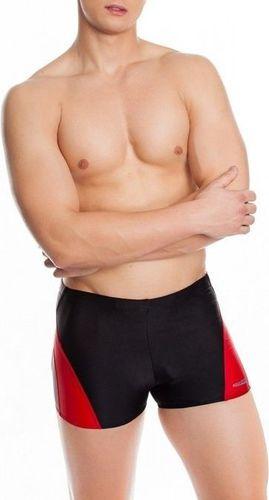 Aqua-Speed Kąpielówki męskie Alex czarno-czerwono-szare r. S