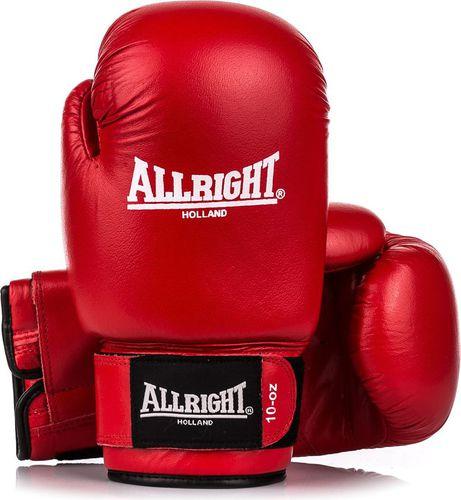 Allright Rękawice bokserskie PVC SBRP Allright Holland czerwony roz. 12