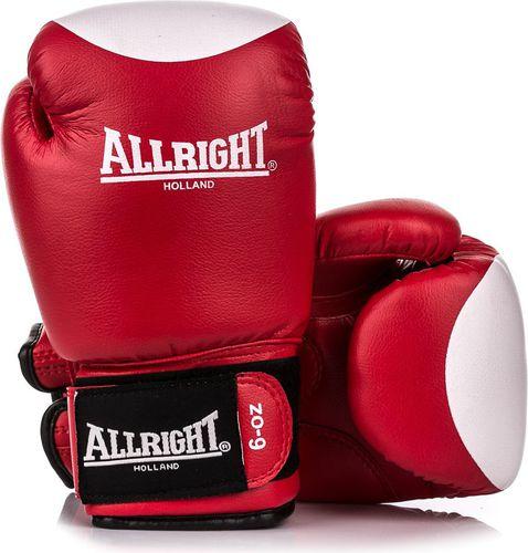 Allright Rękawice bokserskie PVC SBRP Allright Holland czerwono-biały roz. 12
