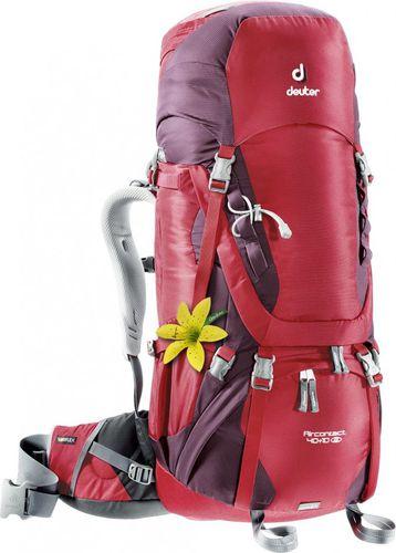 Deuter Plecak turystyczny damski Aircontact 40 + 10 SL Deuter Cranberry/Aubergine roz. uniw (3320016-5005)