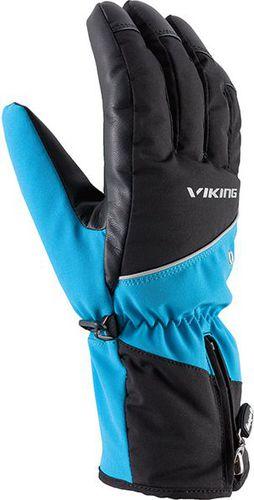 Viking Rękawice Crispin czarno-niebieskie r. L (110/19/0303)
