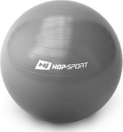 Hop-Sport Piłka gimnastyczna Gym Ball 65cm Hop-Sport srebrny roz. uniw