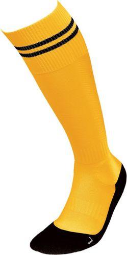 JJW Getry piłkarskie Football Deodorant Silver czarno-żółte r. 35-37