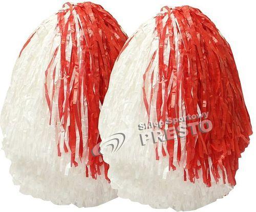 Inwestment Pompony 30cm standard TB 2szt. kolor biało-czerwony roz. uniw