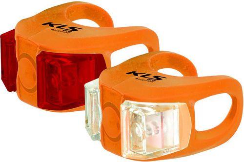 Kellys Zestaw silikonowych lamp rowerowych Twins Kellys Orange roz. uniw