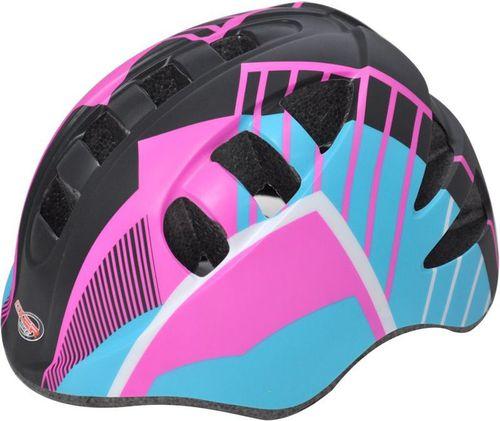 Axer Kask rowerowy dla dzieci Marcel Axer Pink/Black roz. 52-56 (A1869)