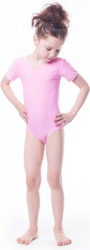 Shepa Body gimnastyczne dziewczęce lycra krótki rękaw Shepa różowy roz. 116