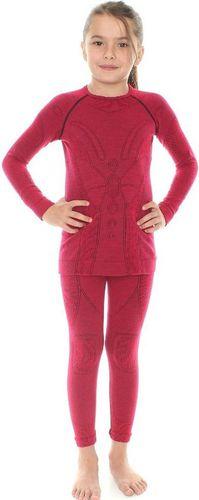 Brubeck Bielizna termoaktywna dziewczęca komplet Extreme Merino różowa r. 92-98 (KP10030)
