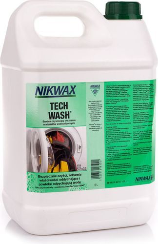Nikwax Środek czyszczący do przeciwdeszczowej odzieży i sprzętu Tech Wash 5L Nikwax  roz. uniw