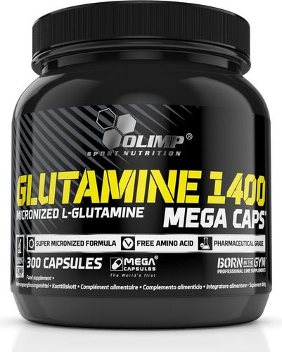 OLIMP Glutamine 1400mg 300 Mega Caps Olimp  roz. uniw