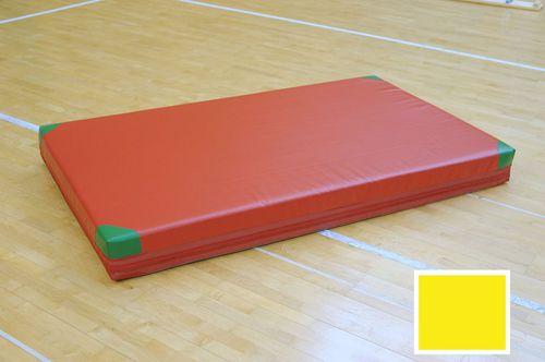 Interplastic Materac gimnastyczny asekuracyjny miękki 200x120x10cm standard Interplastic żółty roz. uniw (06 001 0088)