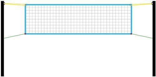 Interplastic Siatka do siatkówki turniejowa 9,5x1m Interplastic  roz. uniw (04 001 0064)