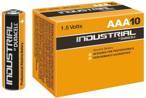 Duracell Baterie alkaliczne MN2400 LR03/AAA 10szt. Industrial Duracell  roz. uniw (107229)