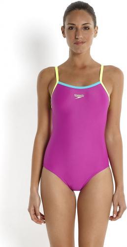 Speedo Strój kąpielowy Thinstrap Muscleback Endurance10 Speedo Purple/Yellow roz. 32 (8-05403A575)