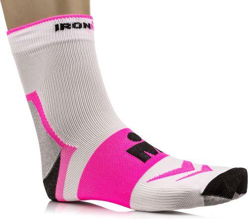 IRONMAN Skarpetki Pro Runner 2.0 Ironman White/Fuchsia roz. 39-42 (11706)