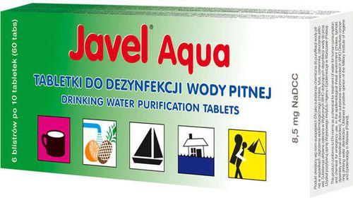 Javel Tabletki oczyszczające wodę Javel Aqua 8,5mg  roz. uniw