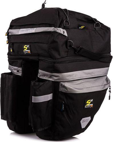 Sport Arsenal Sakwa rowerowa na bagażnik potrójna 465 + mini sakwa Sport Arsenal  roz. uniw