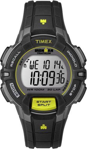 Timex Zegarek sportowy Ironman Triathlon Rugged 30 Mid T5K809 Women Timex czarny roz. uniw (T5K809)